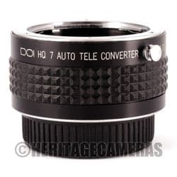 Quality 7 Element 2x MC Auto Tele Converter for Contax Yashica AE 35mm Film SLR Cameras and Lenses